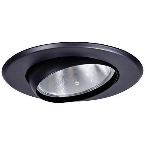 "5"" Black Gimbal Recessed Light Eyeball Trim"