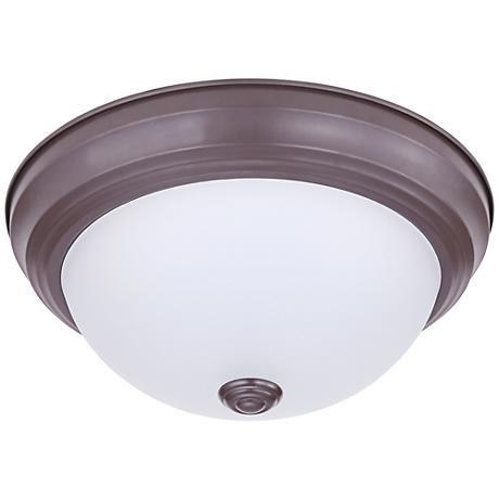 "Eco-Star Stepdown 11 1/4"" Wide Bronze LED Ceiling Light"