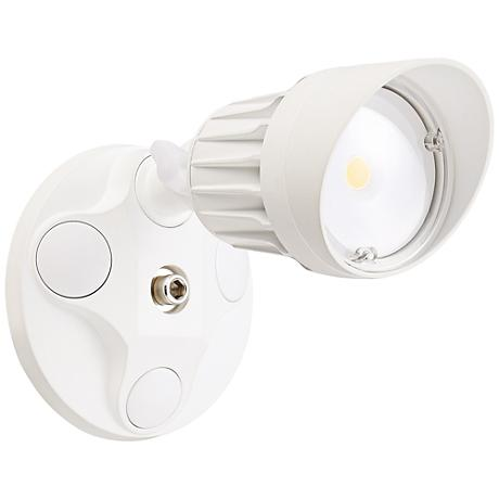 """Eco-Star 4 1/4"""" Wide LED Security Flood Light in White"""