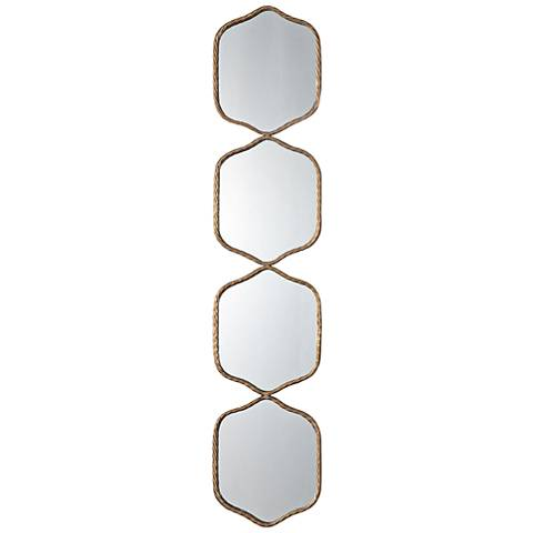 "Uttermost Myriam Iron 11 1/4"" x 52 3/4"" Gold Wall Mirror"