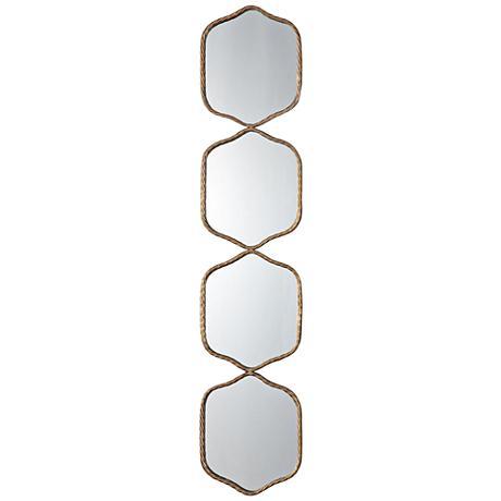 "Uttermost Myriam Iron 11 1/4"" x 52 3/4"" Gold Wall Mirror"