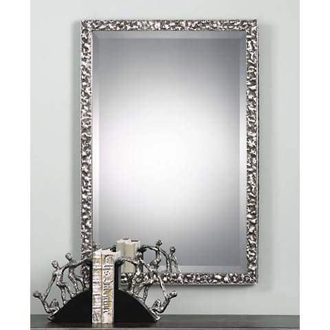 "Rectangular Wall Mirror uttermost alshon 26 1/2"" x 38 1/2"" rectangle wall mirror - #1g718"