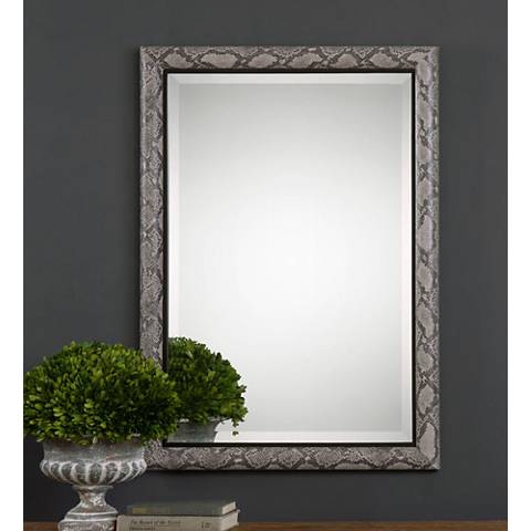 "Uttermost Drakon Snakeskin 28"" x 40"" Rectangle Wall Mirror"