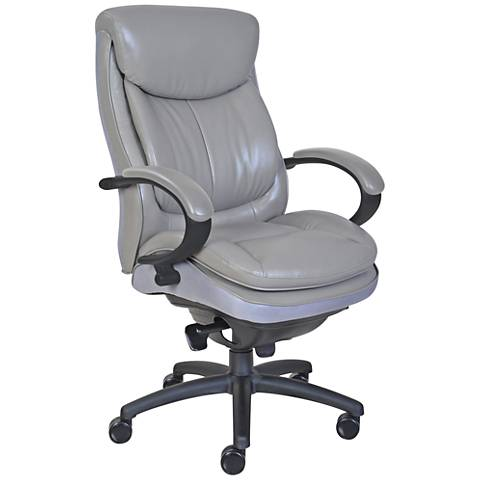 Serta 300 Commercial Gray Faux Leather Executive Chair