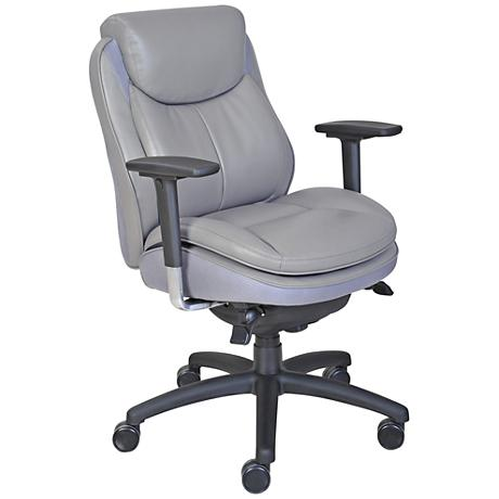 Serta 400 Commercial Gray Faux Leather Office Task Chair