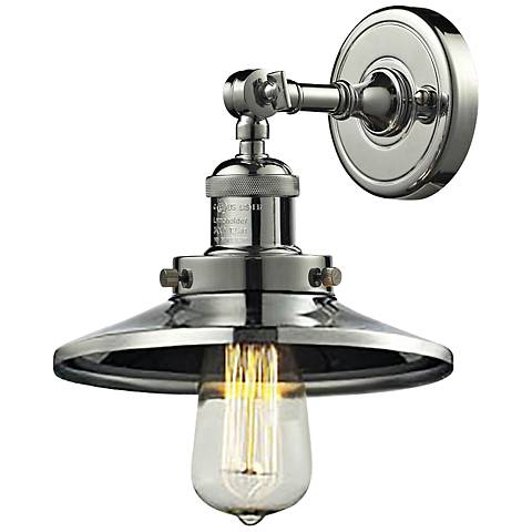 """Halophane Collection 8"""" High Nickel and Metal Wall Sconce"""