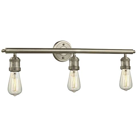 "Bare Bulb Collection Satin Nickel 29"" Wide Bath Light"