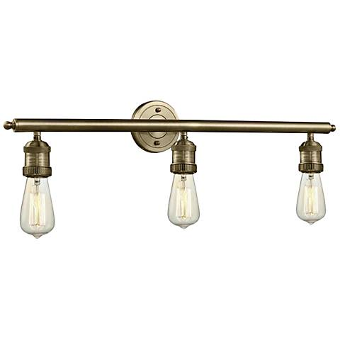 "Bare Bulb Collection Brushed Brass 29"" Wide Bath Light"