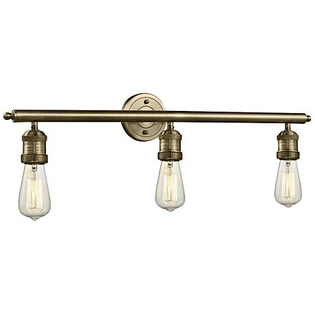 Bare Bulb Collection Brushed Brass 29 Wide Bath Light 1g865 Lamps Plus