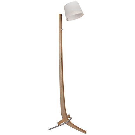 Cerno Silva Brushed Aluminum Birch LED Floor Lamp