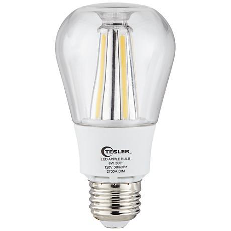Clear 8 Watt 800 Lumens A60 LED Omni-Directional Apple Bulb