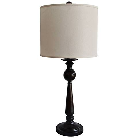 Migwetch Black Contemporary Candlestick Table Lamp