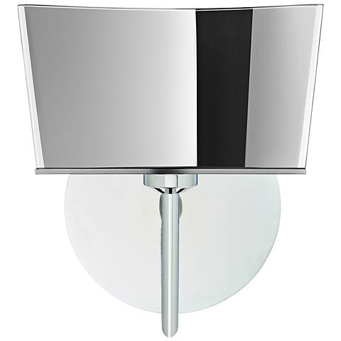 "Besa Groove 8"" High Chrome Mirror-Frost LED Wall Sconce"
