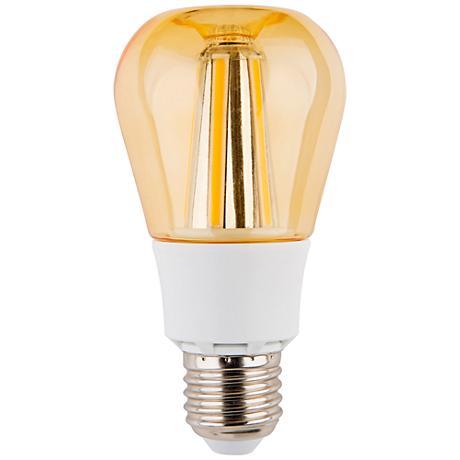 Amber 8 Watt 810 Lumens A60 LED Omni-Directional Apple Bulb