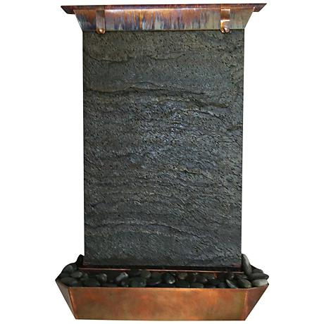 Angel falls 30 high copper indoor outdoor wall fountain for Outdoor wall fountains
