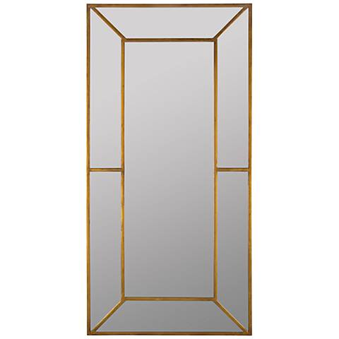 "Payne Antique Gold 28"" x 55 3/4"" Full Length Floor Mirror"