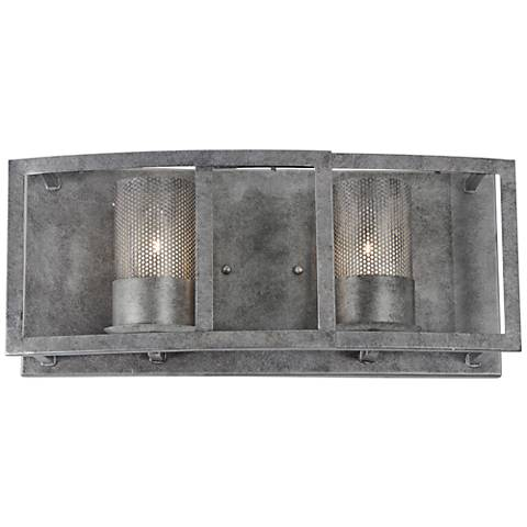 "Varaluz Jackson 18"" Wide Antique Silver Bath Light"