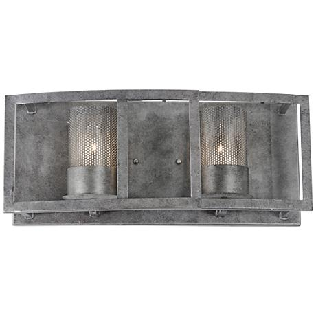 "Varaluz Jackson 18"" Wide Antique Silver Bath Light"