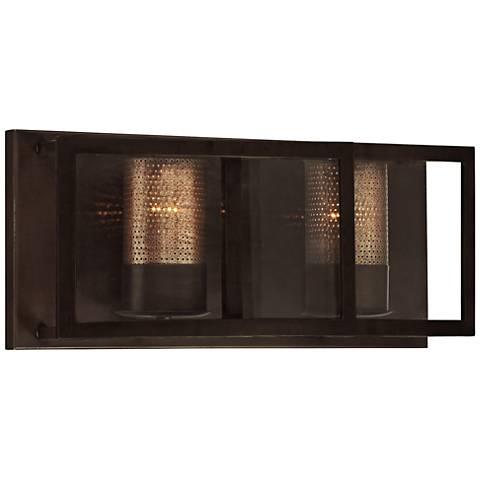 "Varaluz Jackson 18"" Wide Rustic Bronze Bath Light"