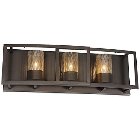 "Varaluz Jackson 24"" Wide Rustic Bronze Bath Light"