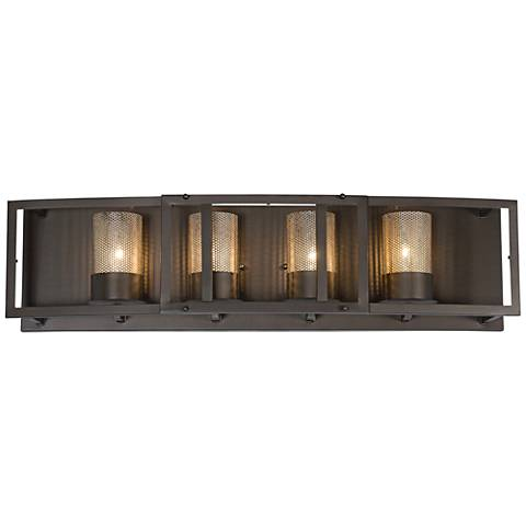 "Varaluz Jackson 30"" Wide Rustic Bronze Bath Light"