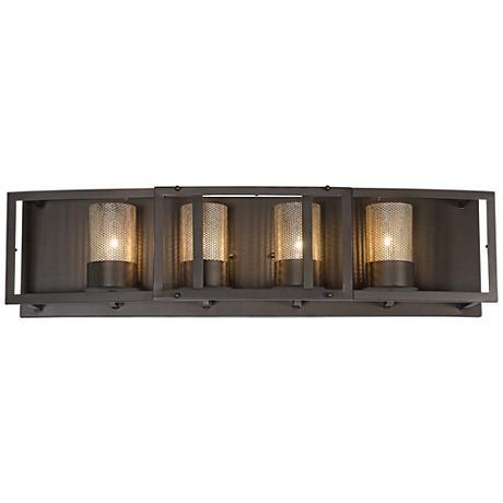 "Varaluz Jackson 30"" Wide Rustic Bronze Bath Light"