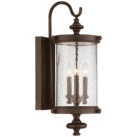 "Savoy House Palmer 26""H Walnut Patina Outdoor Wall Light"