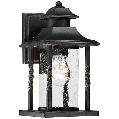 "Savoy House Dorado 11 1/2"" High Black Outdoor Wall Light"