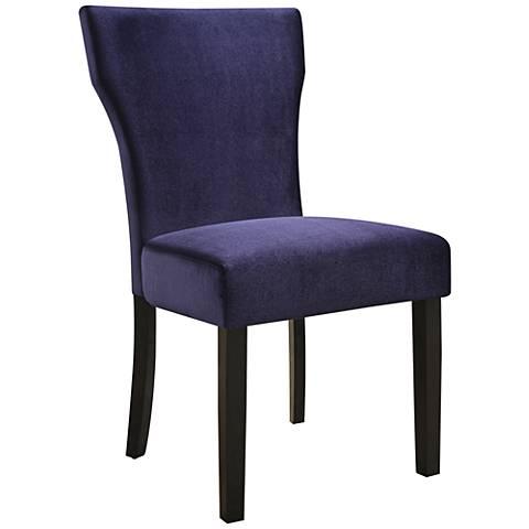 Ainsley Plum Velvet Upholstered Side Chair