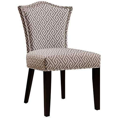 Maza Geometric Gray Upholstered Dining Chair