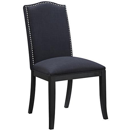 Devon Cinder Black Upholstered Side Chair
