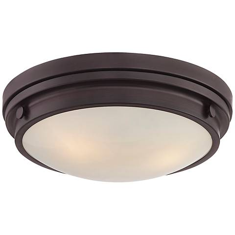 "Savoy House Lucerne 15"" Wide English Bronze Ceiling Light"