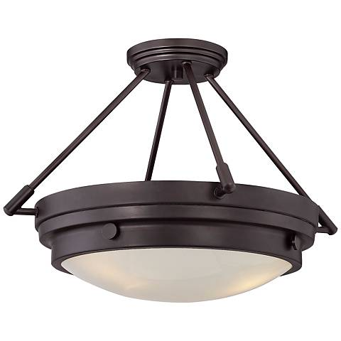 "Savoy House Lucerne 18 1/2""W English Bronze Ceiling Light"
