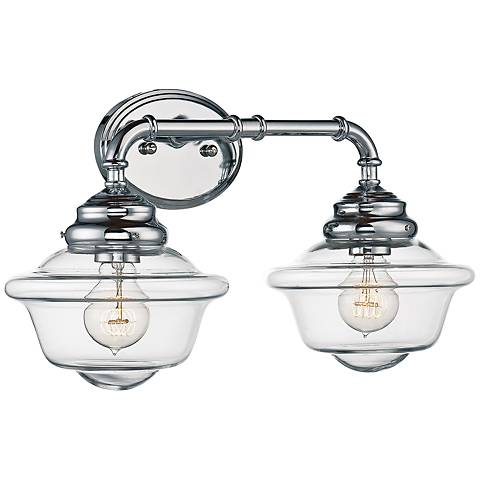 "Savoy House Fairfield 20"" Wide 2-Light Chrome Bath Light"