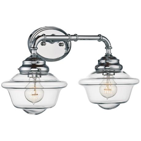 fairfield 20 wide 2 light chrome bath light 1h259 lamps plus. Black Bedroom Furniture Sets. Home Design Ideas
