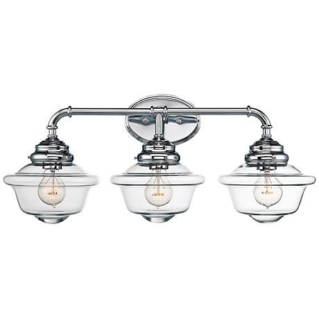 Savoy house fairfield 26 wide 3 light chrome bath light 1h262 lamps plus for Savoy house bathroom lighting