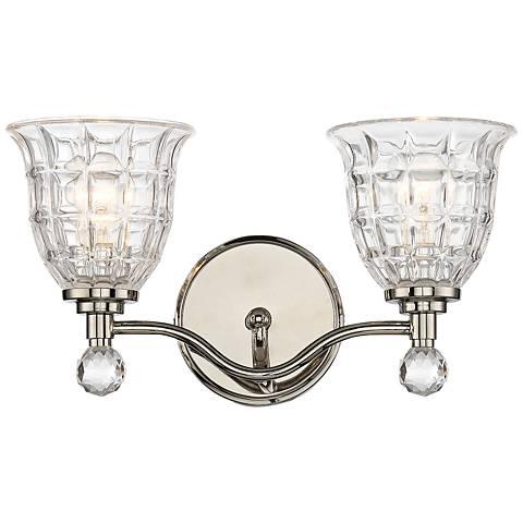 Savoy house birone 16 w 2 light polished nickel bath light 1h263 lamps plus for Savoy house bathroom lighting