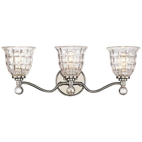 "Savoy House Birone 24""W 3-Light Polished Nickel Bath Light"