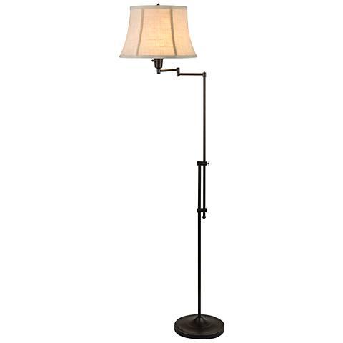 Chaverra Bronze Adjustable Swing Arm Floor Lamp