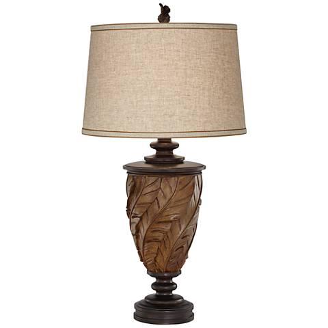 Bali Retreat Warm Brown Urn Table Lamp