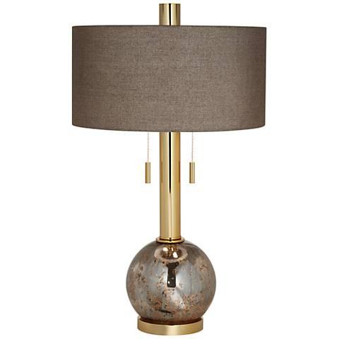 empress warm gold antique mercury glass table lamp. Black Bedroom Furniture Sets. Home Design Ideas