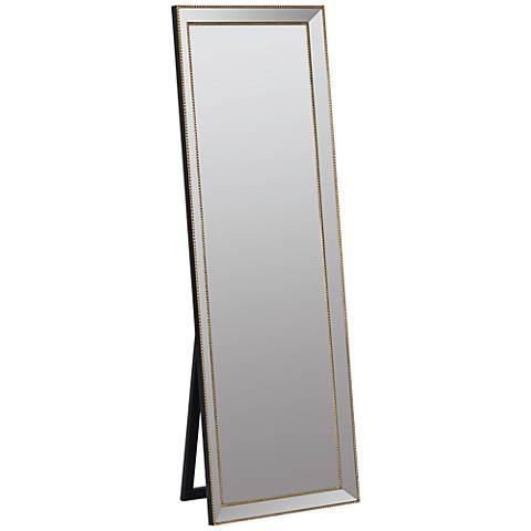 "Kyson Gold Metal 24"" x 68"" Full Length Floor Mirror"