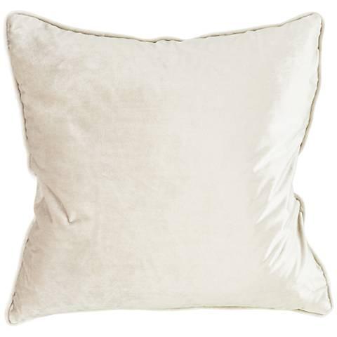 "Tessa Haze Velvet 18"" Square Decorative Pillow"