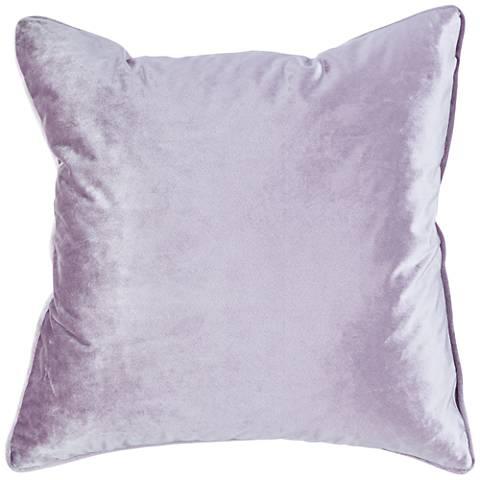 "Tessa Lavender Velvet 18"" Square Decorative Pillow"