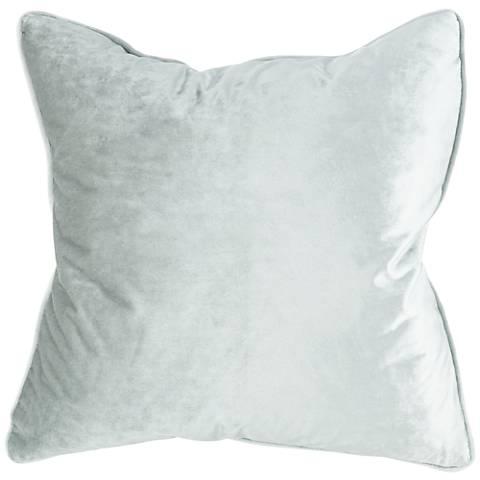 "Tessa Mist Velvet 18"" Square Decorative Pillow"