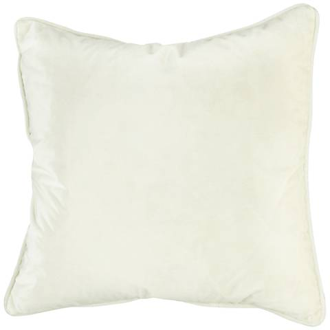 "Tessa Pearl Velvet 18"" Square Decorative Pillow"