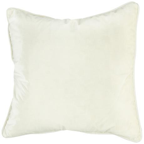 "Tessa Pearl Velvet 18"" Square Decorative Pillow"