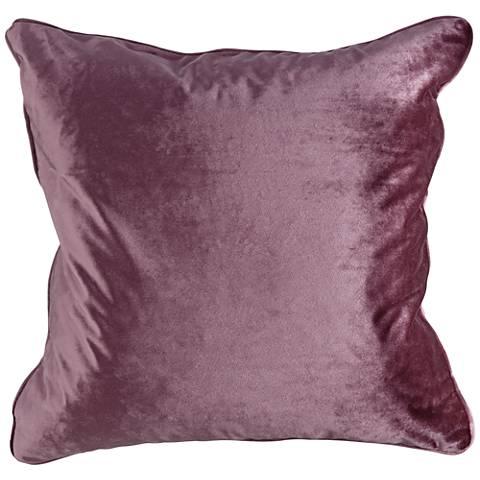 """Tessa Plum Velvet 18"""" Square Decorative Pillow"""