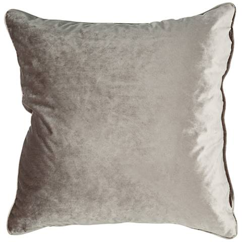 "Tessa Walnut Velvet 18"" Square Decorative Pillow"