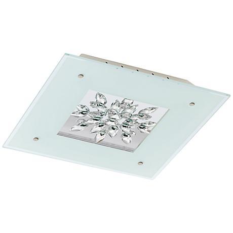 "Eglo Benalua 18 1/2"" Wide Crystal LED Ceiling Light"